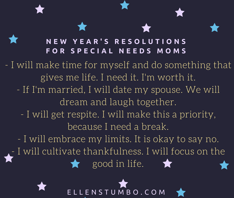 New Year's Resolutions for Special Needs Moms