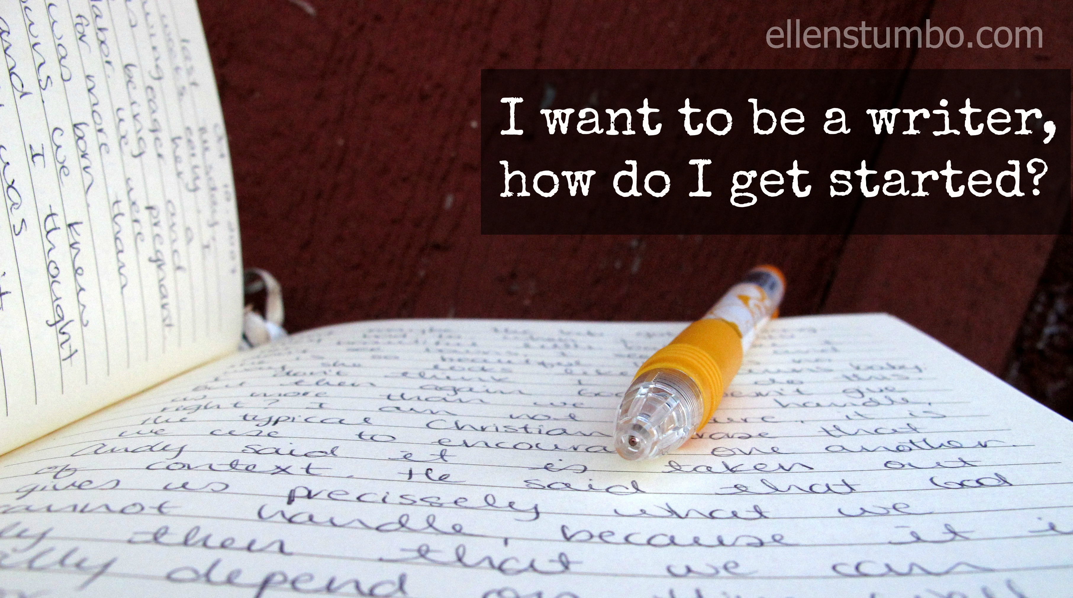 I want to be a writer where do i start
