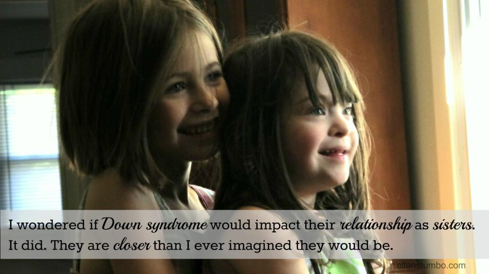 Siblings and down syndrome so full of love